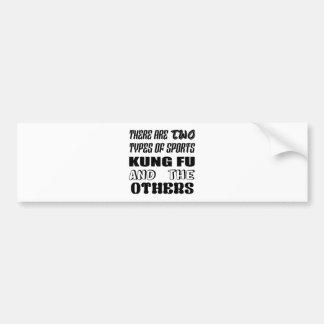 Adesivo Para Carro Há dois tipos de esportes Kung-fu e outro