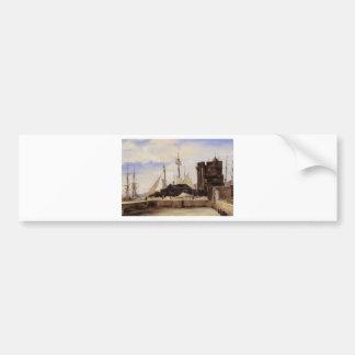 Adesivo Para Carro Honfleur, o cais velho por Camilo Corot