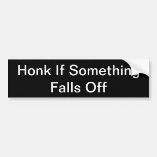 Adesivo Para Carro Honk se algo cai