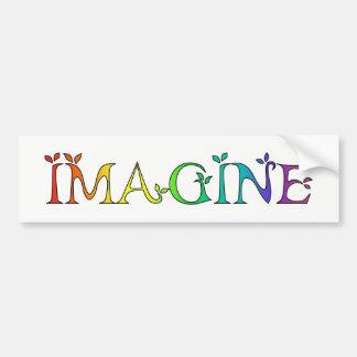 Adesivo Para Carro IMAGINE a mensagem inspirada