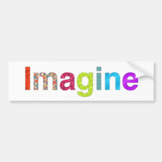Adesivo Para Carro Imagine o cartão colorido da inspiração do