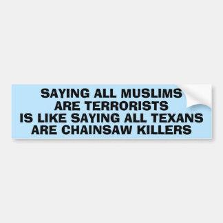Adesivo Para Carro Indicação sobre Islamophobia