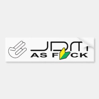 """Adesivo Para Carro JDM como FCK """"motorista novo """""""