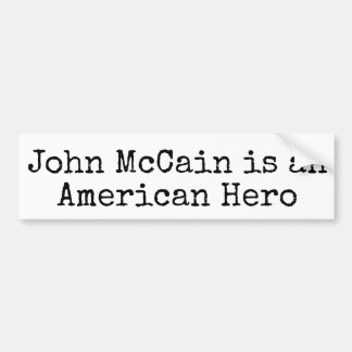 Adesivo Para Carro John McCain Bumpersticker: MCCAIN É HERÓI