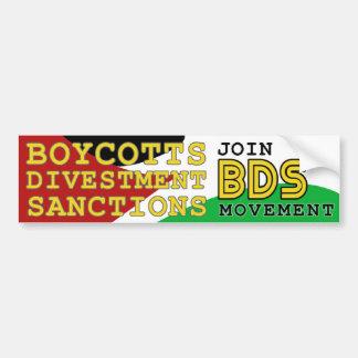 Adesivo Para Carro Junte-se ao apoio Palestina do movimento de BDS