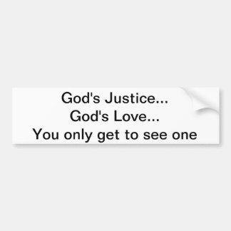 Adesivo Para Carro Justiça do deus