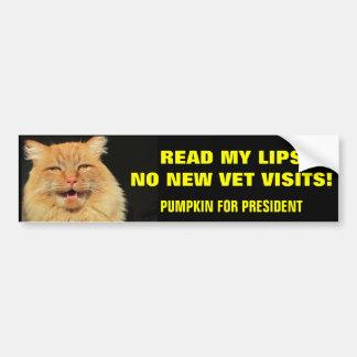 Adesivo Para Carro Leia minha abóbora dos lábios… para o presidente