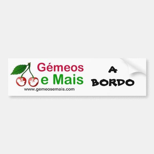 Adesivo Para Carro Logo do Portal, A BORDO, www.gemeosemais.com