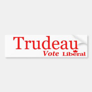 Adesivo Para Carro Logotipo do liberal do voto de Trudeau