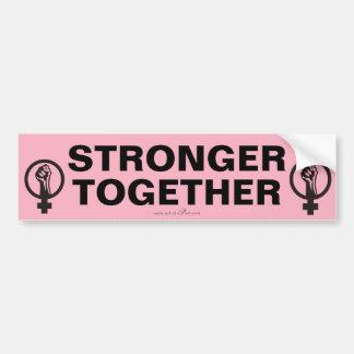 Adesivo Para Carro MAIS FORTE JUNTO, slogan do março das mulheres.