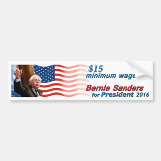 Adesivo Para Carro Máquinas de lixar de Bernie: Salário $15 mínimo