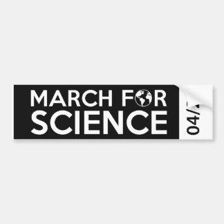 Adesivo Para Carro Março para a ciência