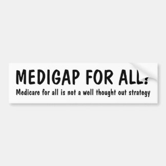 Adesivo Para Carro MEDIGAP PARA TUDO? Medicare para tudo…