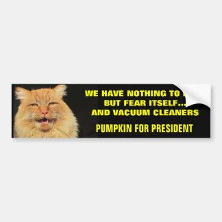 Adesivo Para Carro Medo próprio e vácuos - abóbora para o presidente