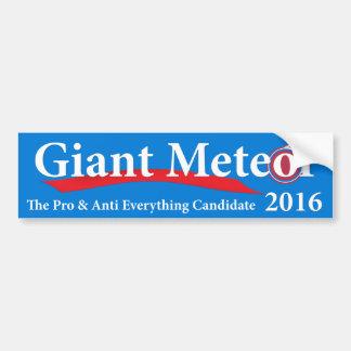 Adesivo Para Carro Meteoro gigante 2016 pro & anti tudo candidato