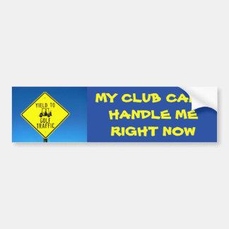 Adesivo Para Carro Meu clube não pode tratar-me agora amarelo - golfe