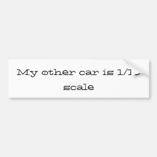 Adesivo Para Carro meu outro carro é 1/10 de escala