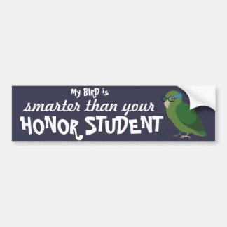Adesivo Para Carro Meu pássaro é mais esperto do que seu estudante da