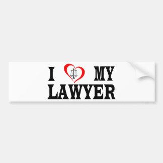 Adesivo Para Carro Mim coração meu advogado