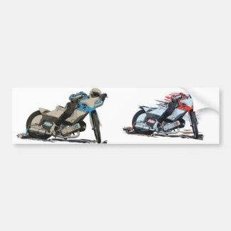 Adesivo Para Carro Motocicleta vermelha rápida do estrada