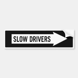 Adesivo Para Carro Motoristas lentos