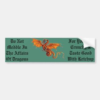 Adesivo Para Carro Não intrometa nos casos dos dragões