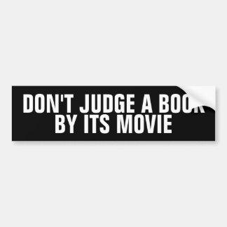 Adesivo Para Carro Não julgue um livro por seus autocolantes no vidro