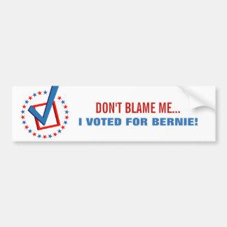 Adesivo Para Carro Não me responsabilize que eu votei para a política