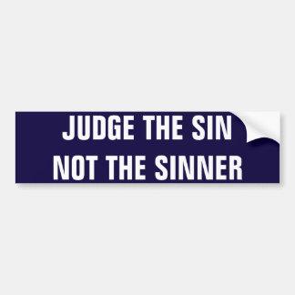 Adesivo Para Carro não o bumpersticker do pecador