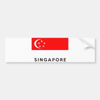 Adesivo Para Carro nome do texto do país da bandeira de singapore