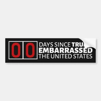 Adesivo Para Carro Número de dias desde o trunfo embaraçado os EUA
