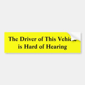 Adesivo Para Carro O motorista deste veículo é com deficiência