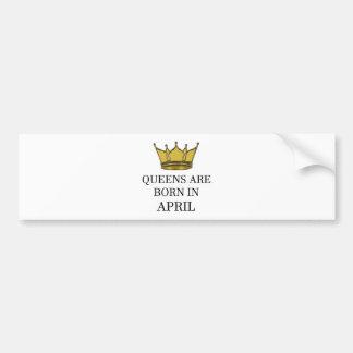 Adesivo Para Carro O Queens é nascido em abril