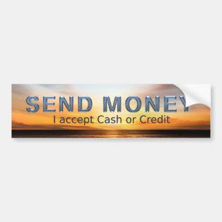 Adesivo Para Carro O T envia o dinheiro