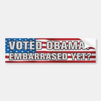 Adesivo Para Carro Obama votado? Autocolante no vidro traseiro