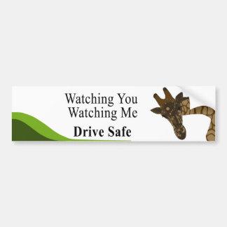 Adesivo Para Carro Olhando o girafa