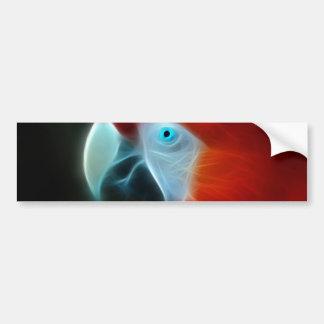 Adesivo Para Carro Olhos azuis vermelhos do papagaio do Fractal