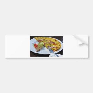 Adesivo Para Carro Omeleta do speck e do queijo