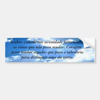 Adesivo Para Carro Oração da serenidade personalizado e traduzido
