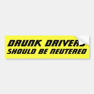 Adesivo Para Carro Os motoristas bêbedos devem SER corajosos