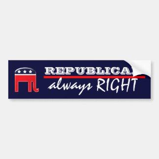 Adesivo Para Carro Os republicanos ENDIREITAM sempre