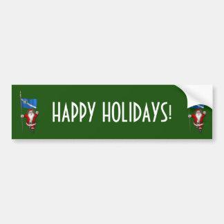 Adesivo Para Carro Papai Noel com a bandeira de Las Vegas