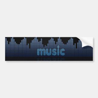 Adesivo Para Carro Parede da onda da música do equalizador de Digitas