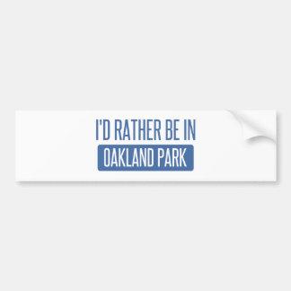Adesivo Para Carro Parque de Oakland