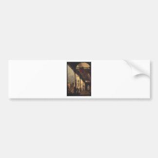 Adesivo Para Carro Perspectiva com um Portico por Canaletto