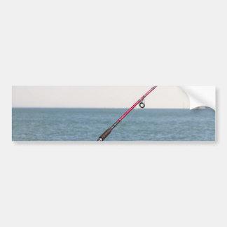 Adesivo Para Carro Pesca Rod no cais em San Francisco Bay