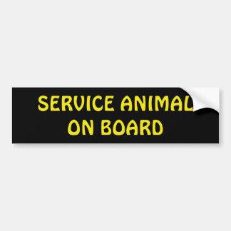 Adesivo Para Carro Preste serviços de manutenção ao animal a bordo