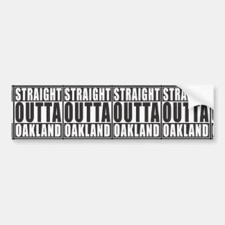 Adesivo Para Carro Preto reto de Outta Oakland