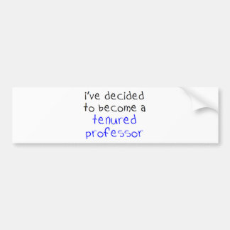 Adesivo Para Carro professor tenured