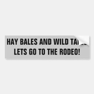 Adesivo Para Carro Rodeio e contos selvagens, reboque do cavalo